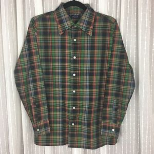 Vintage Givenchy for Chesa Plaid Button Down Shirt